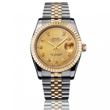 劳力士原装瑞士机芯18K包金男士腕表
